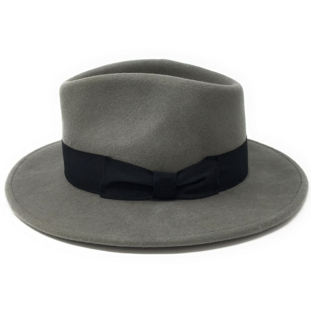 Grey Fedora Hat Wool Crushable - Indy 7705961b7539